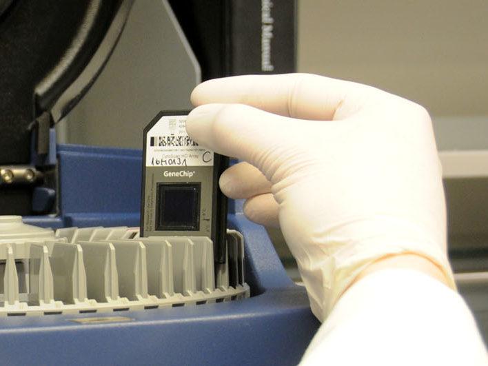 Labormitarbeiter-bedient-elektronisches-Gerät